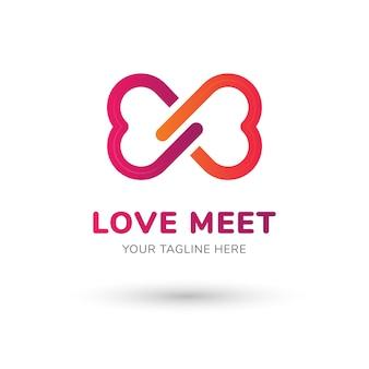 Amor conhecer logotipo