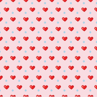 Amor corações aquarela sem costura padrão
