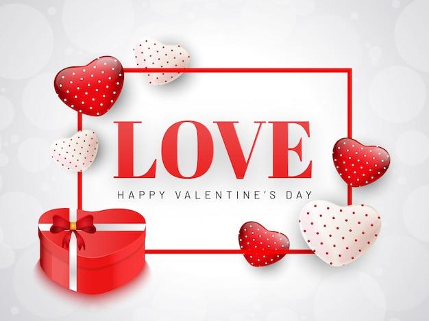 Amor design de cartão