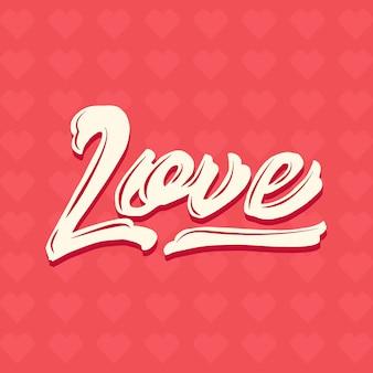 Amor dos namorados mão lettering vector