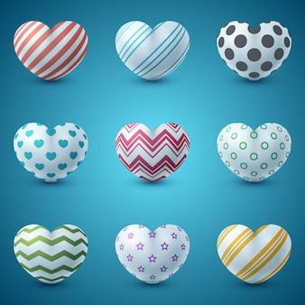 Amor e coração ícone realista