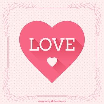 Amor e cumprimento do coração cartão