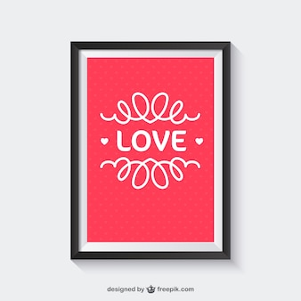 Amor emoldurada