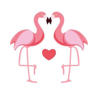 Amor flamingo bonito