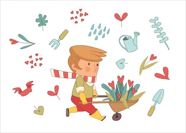 Amor jardinagem