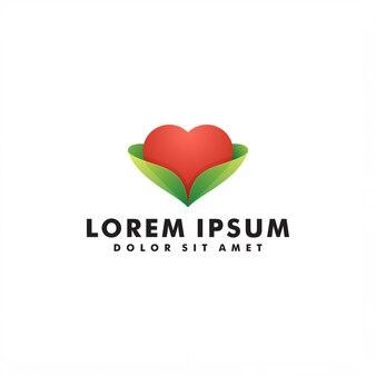 Amor lareira design de logotipo