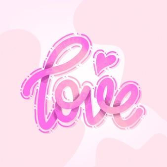 Amor letras design gradiente