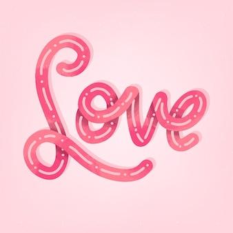 Amor letras estilo com gradiente