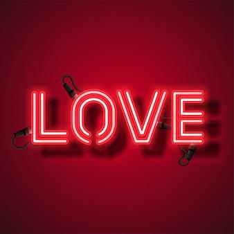 Amor neon design