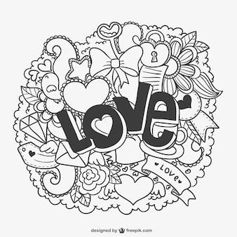 Amor nuvem com ornamentos