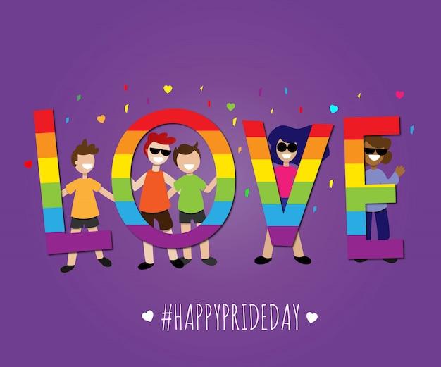 Amor orgulho feliz dia orgulho lgbt