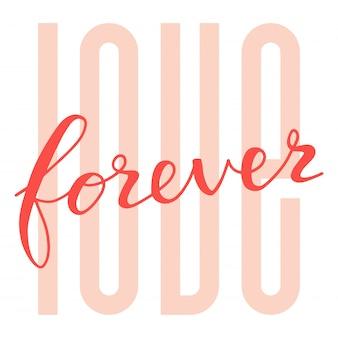 Amor para sempre cartão de citação de letras