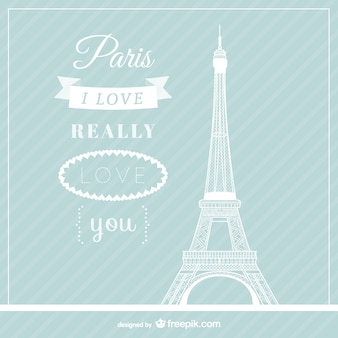 Amor paris vector