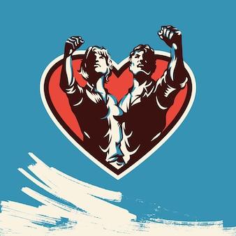 Amor poster retro design