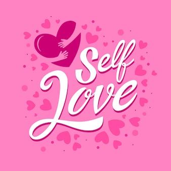 Amor próprio, rotulação, mensagem, desenho