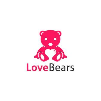 Amor ursos logotipo