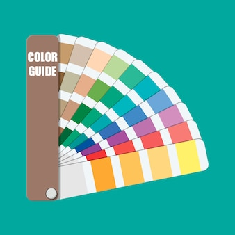Amostra de cor. guia da paleta de cores.