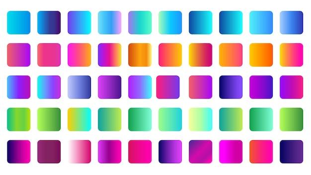 Amostra de gradiente multicolor