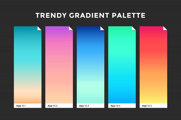 Amostras de gradiente na moda