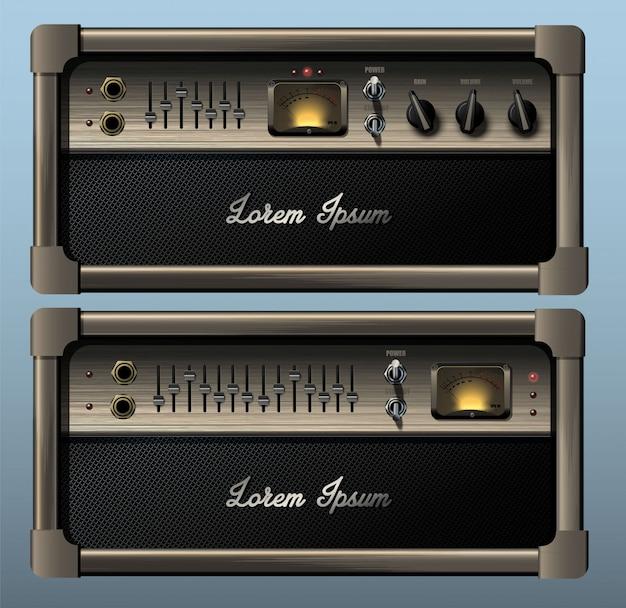 Amplificador combinado de guitarra realista.