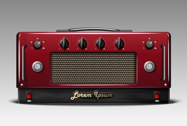 Amplificador de combinação de guitarra realista.