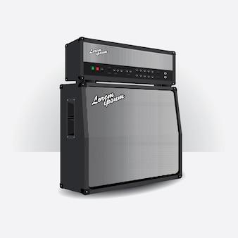 Amplificador de guitarra definir ilustração vetorial