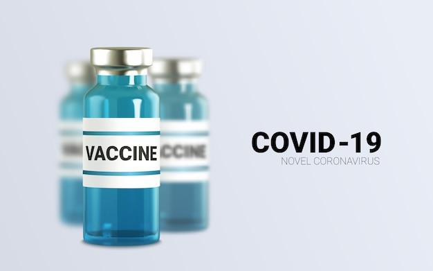 Ampolas de vidro realistas com remédio. injeção de vacina. infecção por vírus corona, nova doença por coronavírus,,.