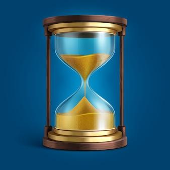 Ampulheta realista, temporizador de relógio de areia