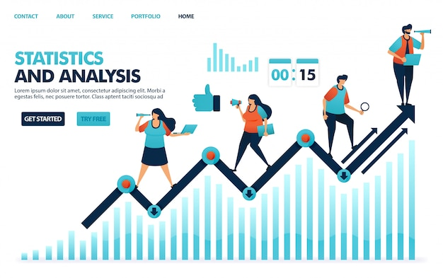 Analisando estatísticas anuais sobre desempenho corporativo, estratégias de planejamento de análise e ideias para empresas.