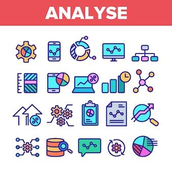 Analisar elemento sinal conjunto de ícones