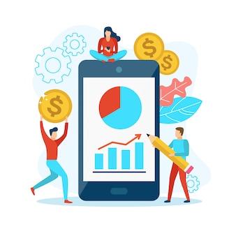Analisar estatísticas no celular