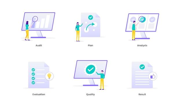 Análise de avaliação avaliação medida ilustração de análise de negócios