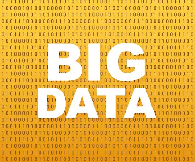 Análise de big data da informação.