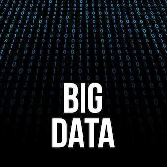 Análise de big data de informação.