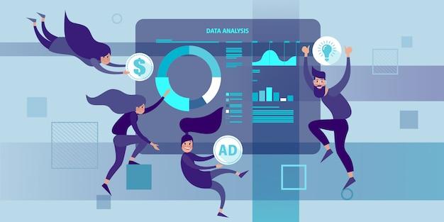 Análise de business intelligence e big data.