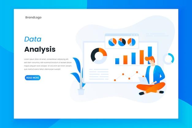 Análise de dados da página de destino com diagramas estatísticos