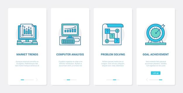 Análise de dados de tendências de negócios e ilustração analítica