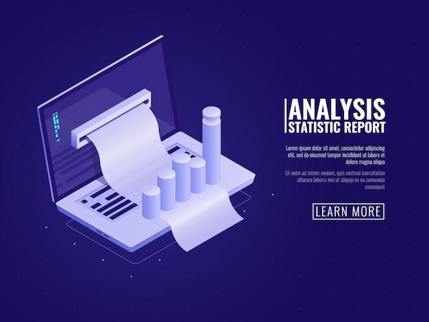 Análise de dados e estatísticas de informações, gerenciamento de negócios, pedido de dados corporativos