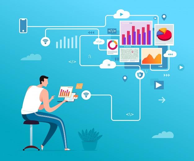 Análise de dados freelance e programador web