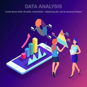 Análise de dados. relatórios financeiros digitais, seo, marketing. gestão de negócios, desenvolvimento