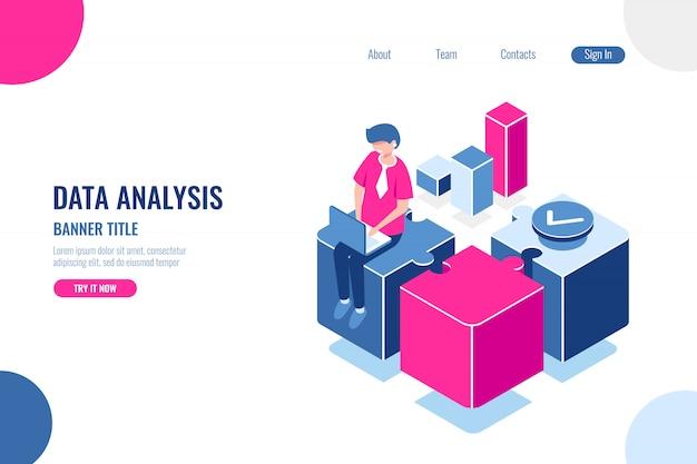 Análise de dados, título de banner