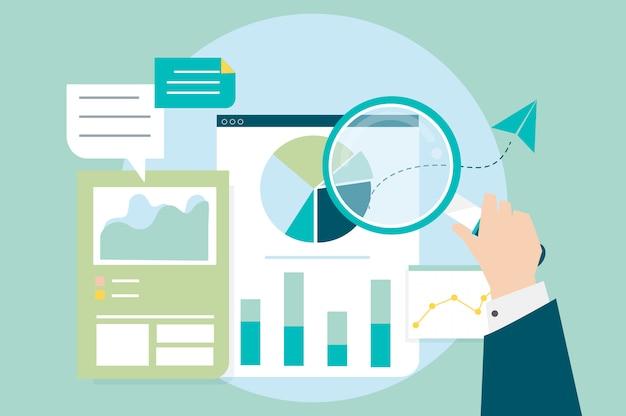 Análise de desempenho de negócios com gráficos