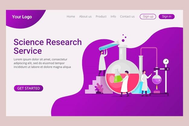 Análise de laboratório de modelo de página de aterrissagem e serviço de pesquisa