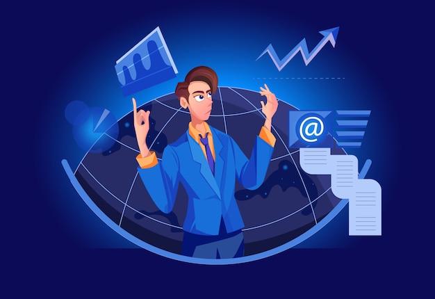 Análise de mercado big boss, solução de negócios de gerenciamento com crm (customer relationship management)