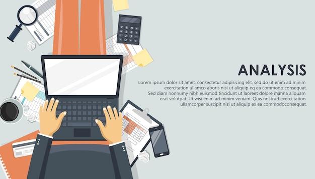 Análise de negócios e conceito analítico