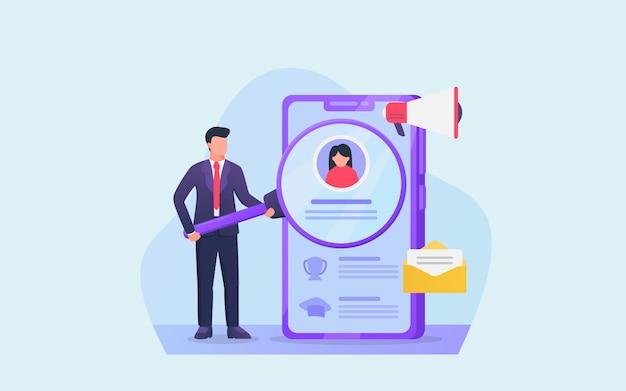 Análise de perfil digital para profissionais de negócios na contratação de novo funcionário
