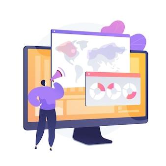 Análise de pesquisa online global. mapa mundial, estratégia de marketing, pesquisas. analisando as respostas ao questionário de cidadãos de diferentes países.