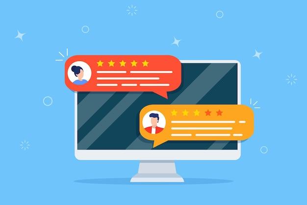 Analise depoimentos de classificação online