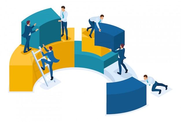 Análise isométrica de dados, coleta de dados para análise, trabalho dos funcionários.