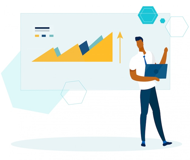 Analista de escritório com relatório financeiro de cheques de laptop